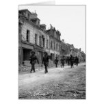 Soldiers in Caen Greeting Cards