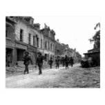 Soldiers in Caen Post Card