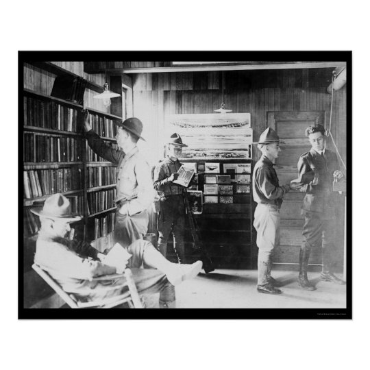 Soldiers in   Library 1912 Poster