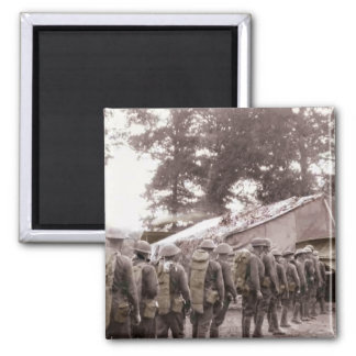Soldiers in Line for Mail Magnet