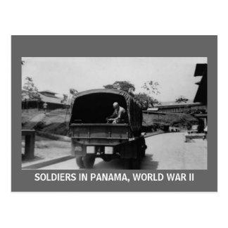 SOLDIERS IN PANAMA, WORLD WAR II POSTCARD