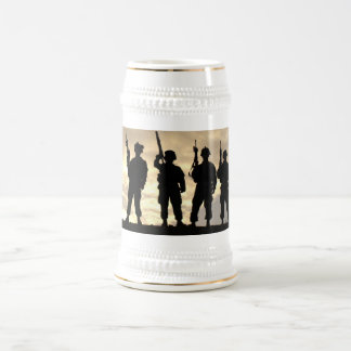 Soldiers in Silhouette Military Stein