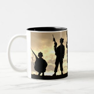 Soldiers in Silhouette mug