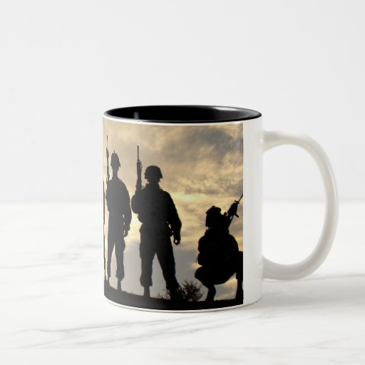 Soldiers in Silhouette Coffee Mugs