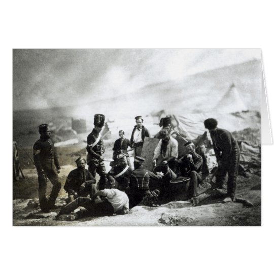 Soldiers in the Crimea, c.1855 Card