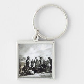 Soldiers in the Crimea, c.1855 Silver-Colored Square Keychain