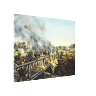Soldiers in the Sun by Donna Neary Print Canvas Print