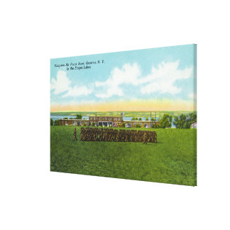 Soldiers Marching in Formation Canvas Print