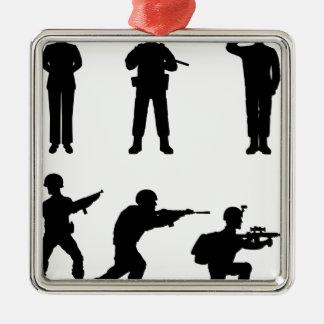 Soldiers Metal Ornament