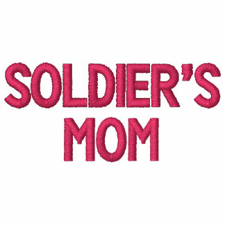 Soldier's Mom Embroidered Hoodie