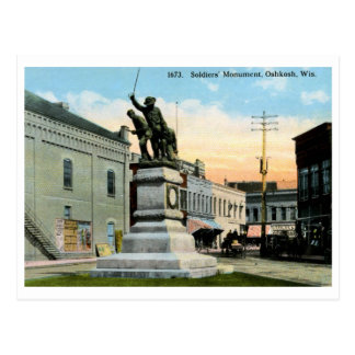 Soldiers Monument, Oshkosh, WI Vintage Postcard