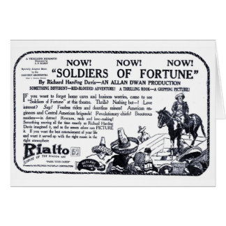 Soldiers of Fortune 1919 vintage movie ad card