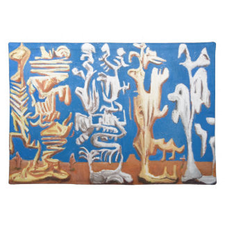 Soldiers of Fortune (surrealism human figures ) Place Mat