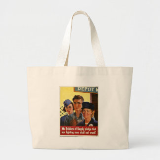Soldiers Of Supply World War 2 Large Tote Bag