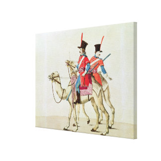 Soldiers of the Dromedary Regiment, 1839 Canvas Print