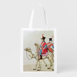 Soldiers of the Dromedary Regiment, 1839 Reusable Grocery Bags