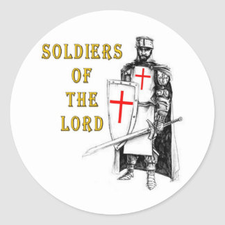 SOLDIERS OF THE LORD CLASSIC ROUND STICKER