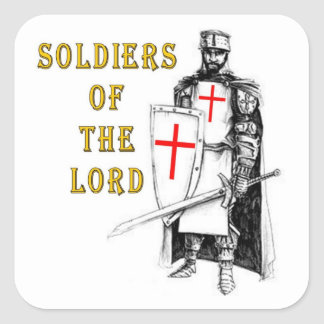 SOLDIERS OF THE LORD SQUARE STICKER