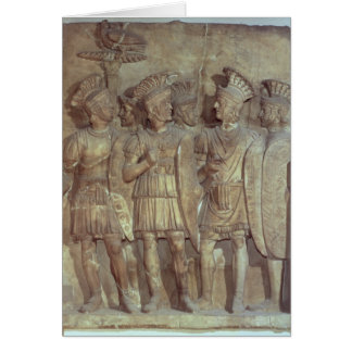 Soldiers of the Praetorian Guard, relief Greeting Card