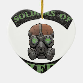 Soldiers of ZED Logo Ceramic Ornament
