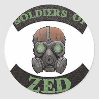 Soldiers of ZED Logo Classic Round Sticker