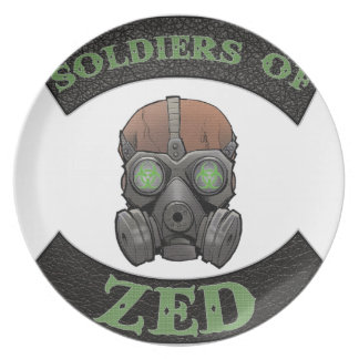 Soldiers of ZED Logo Melamine Plate