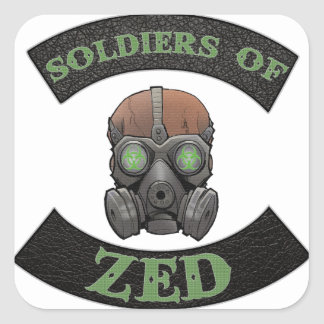 Soldiers of ZED Logo Square Sticker