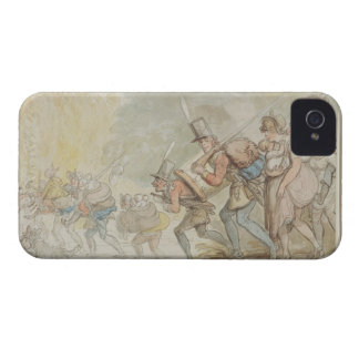 Soldiers on a March, 1805 (pen & ink and watercolo iPhone 4 Case