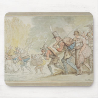 Soldiers on a March, 1805 (pen & ink and watercolo Mouse Pad