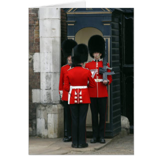 Soldiers on Sentry Duty in London Card