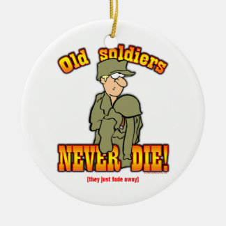 Soldiers Double-Sided Ceramic Round Christmas Ornament