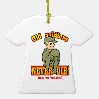Soldiers Double-Sided T-Shirt Ceramic Christmas Ornament