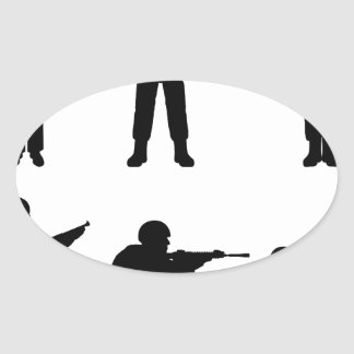 Soldiers Oval Sticker