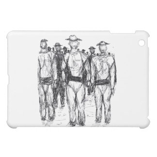 Soldiers Pen and Ink Abstract sketch Case For The iPad Mini