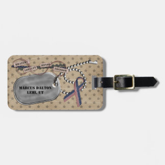 Soldier's Personalized Luggage Tag
