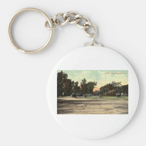 Soldiers Place, Buffalo NY 1908 Vintage Basic Round Button Keychain