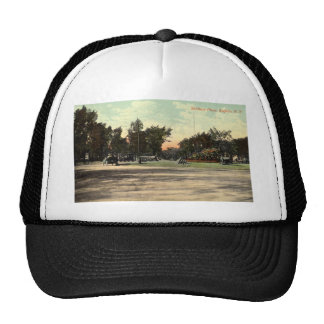 Soldiers Place, Buffalo NY 1908 Vintage Mesh Hats