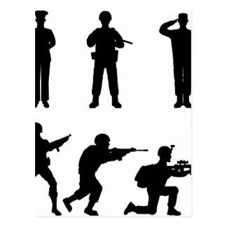 Soldiers Postcard