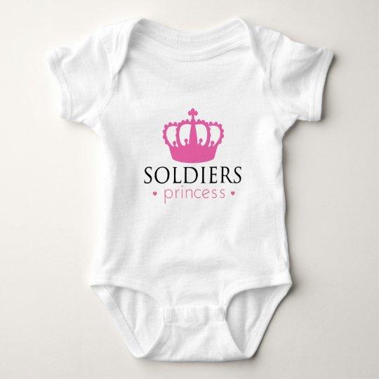 Soldiers Princess Baby Bodysuit