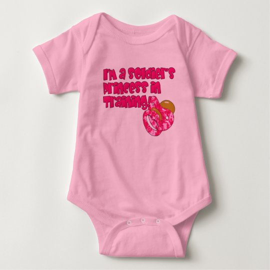 Soldiers Princess in Training Baby Bodysuit