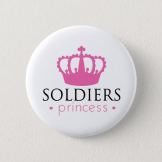 Soldiers Princess Pinback Button