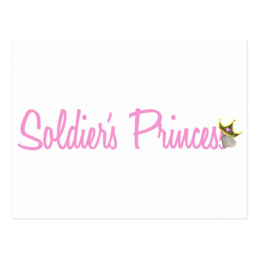Soldier's Princess Postcard