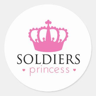 Soldiers Princess Round Stickers