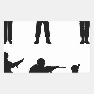 Soldiers Rectangular Sticker