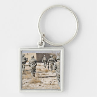 soldiers respond to a small arms attack keychain