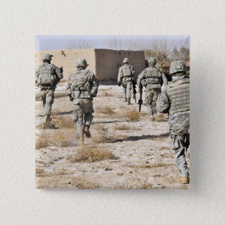 soldiers respond to a small arms attack pinback button
