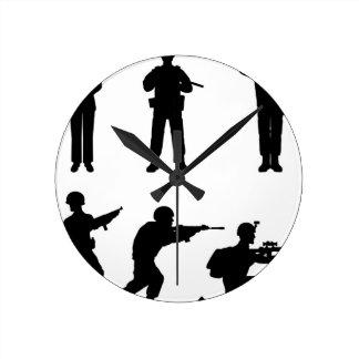 Soldiers Round Clock