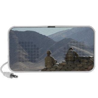 soldiers run communications equipment mp3 speaker