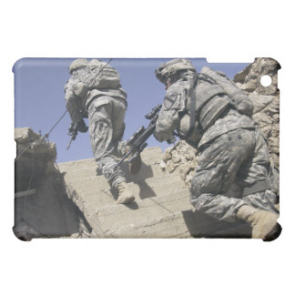 Soldiers running up staircase of a building iPad mini cover