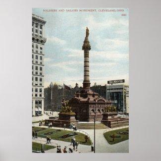 Soldiers & Sailors Monument Cleveland 1910 Vintage print